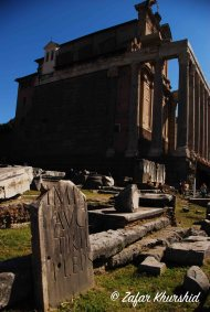 A small example of the breathtaking ruins in the Forum Romana