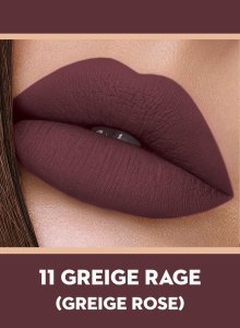 11 Greige Rage (Greige Rose) Of Sugar Smudge Me Not Liquid Lipstick