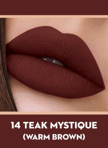 14 Teak Mystique (Warm Brown) Of Sugar Smudge Me Not Liquid Lipstick