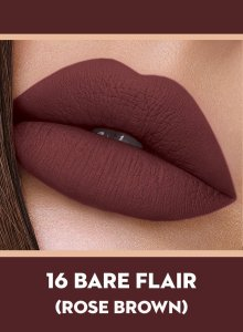 16 Bare Flair (Rose Brown) Of Sugar Smudge Me Not Liquid Lipstick