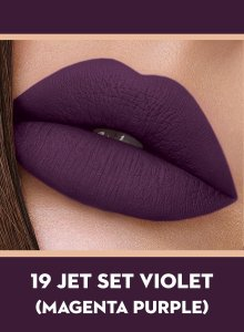 19 Jet Set Violet (Magenta Purple) Of Sugar Smudge Me Not Liquid Lipstick