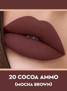 20 Cocoa Ammo (Mocha Brown) Of Sugar Smudge Me Not Liquid Lipstick