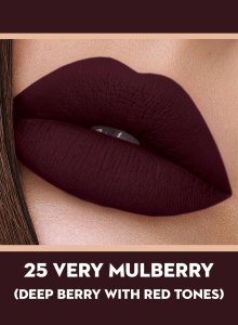 25 Very Mulberry (Deep Berry) Of Sugar Smudge Me Not Liquid Lipstick