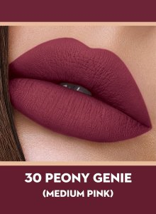 30 Peony Genie (Medium Pink) Of Sugar Smudge Me Not Liquid Lipstick