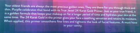 Description Of Purplle 24K Gold Primer