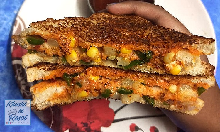 स्वीट कॉर्न सैंडविचरेसिपी जो खाएं सब को भाएँ   Corn Sandwich Recipe h