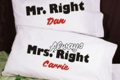 Mr and Mrs Right Pillows