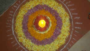 My First Floral Rangoli