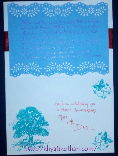 Anniversary Card Inside Card37