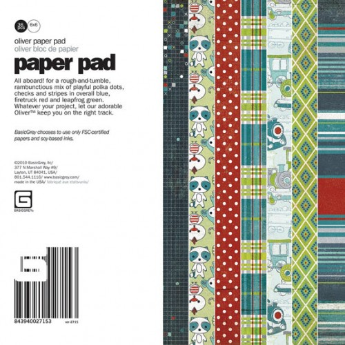 Shop n Splurge!!! Oliver 36 sheet paper pad by BasicGre