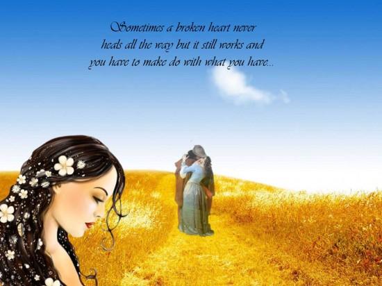 Sometimes a broken heart never heals