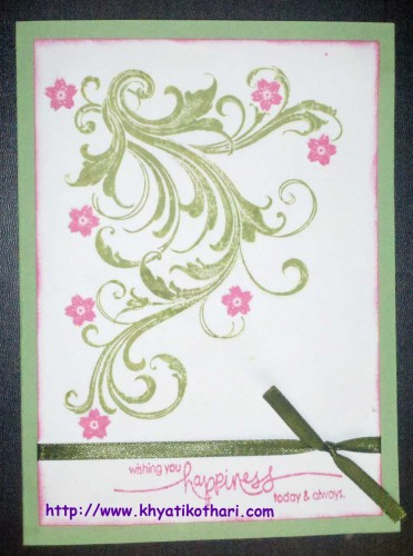Wishing You Happiness Card FrontCard63