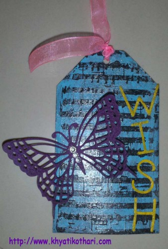 One more Tag made using Embossing Technique Tag2 1