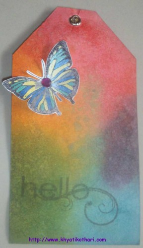 Another tag made using Distressing and Embossing Tag 1