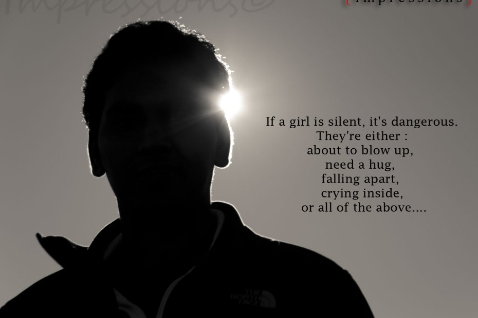 If a girl is silent AttitudeQuote53