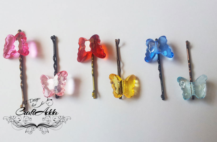 DIY hair clips ButterflyHairpins