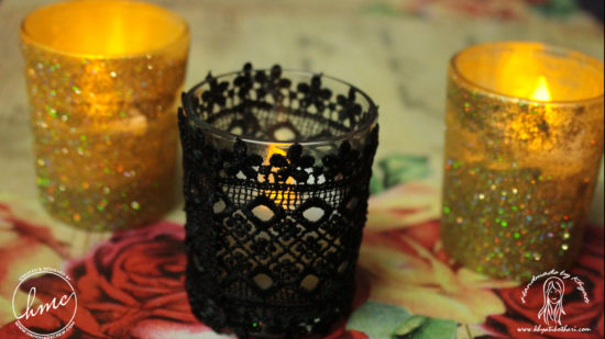 DIY glitter votives (video tutorial) 4