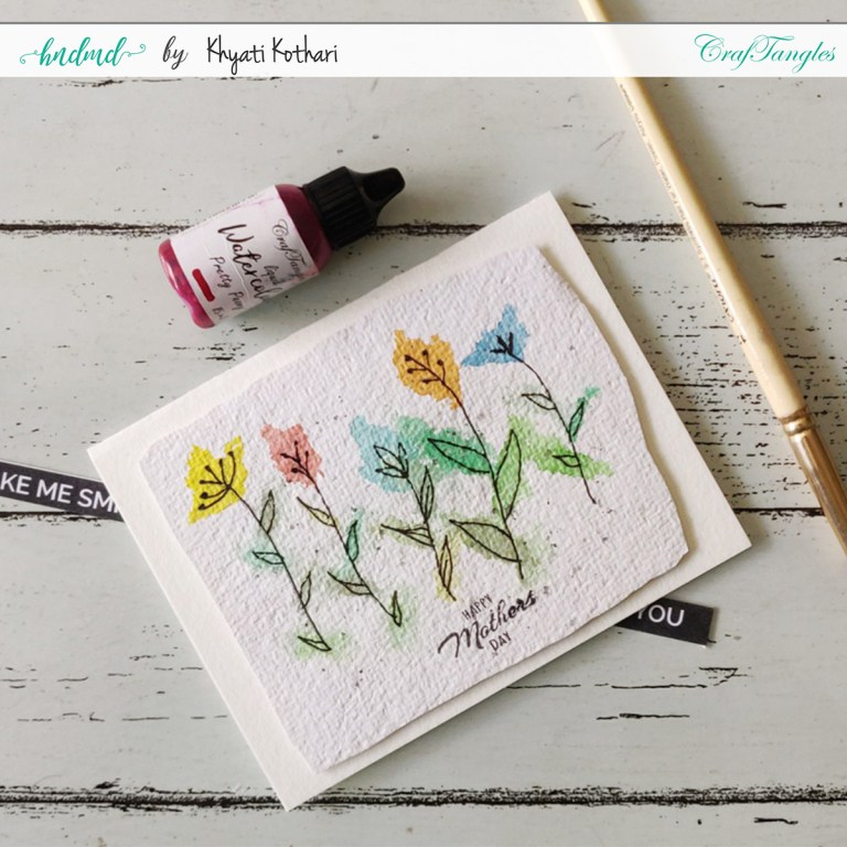 DIY Watercolor Mother's Day Cards Simple doodle card 2 2