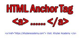 HTML Anchor Tag a href