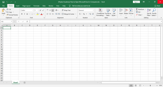 How to Open Microsoft Excel in Computer?
