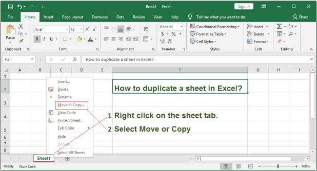 How to Duplicate a Sheet in Excel