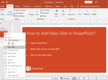 How to Add New Slide in PowerPoint?