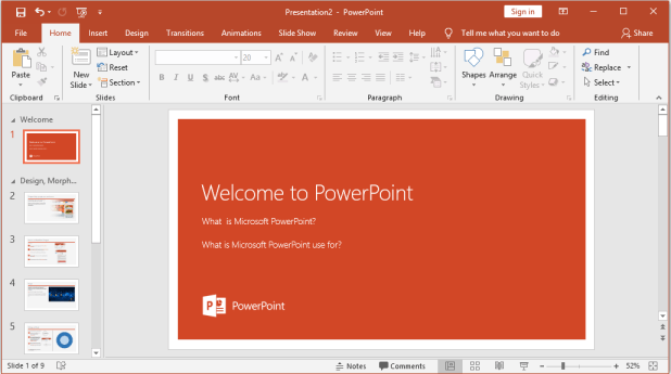 Microsoft PowerPoint is a collection of tools using for creating stunning professional presentations. It is a part of the Microsoft Office package.