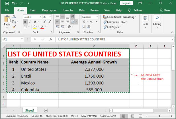 Link Excel Data to PowerPoint