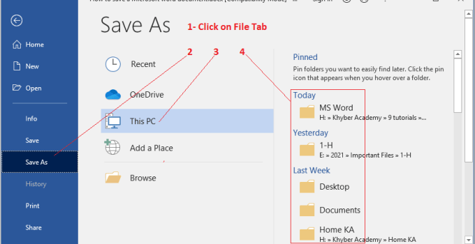 how-to-save a-Microsoft-Word-document-on-a-computer
