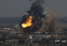 اسرائيلې ټينکونو او جنګې الوتکو غزه پټې باندې بمبارې کړيده