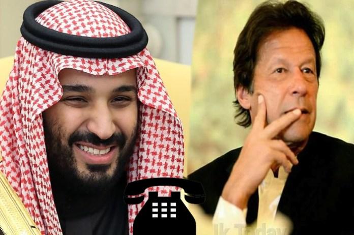 وزيراعظم عمران خان د سعوي ولي عهد ته د هرقسمه مرستې باور ورکړے