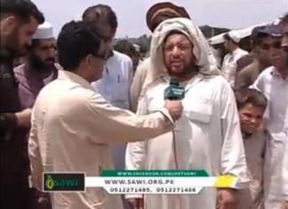 SAWI Eid Gifts distribution in Hungu IDPs Report by Fazal Karim