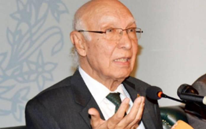 Deputy Chairman Planning Commission Sartaj Aziz