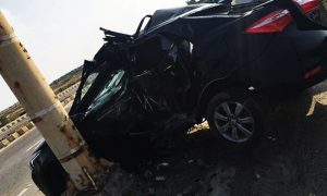 Shahlyla's car after the accident