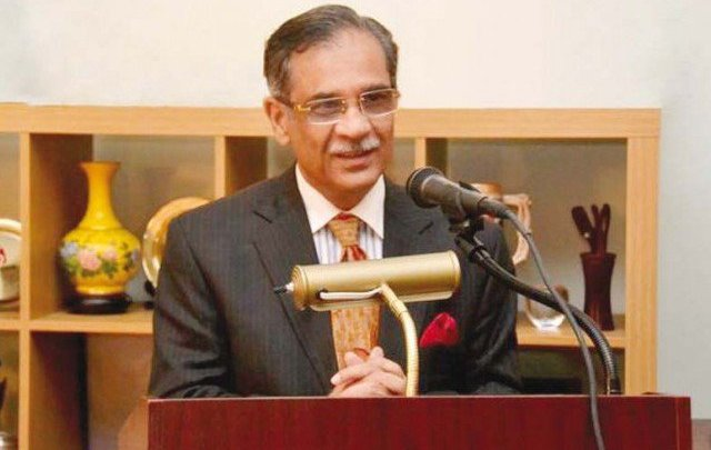 CJP Saqib Nisar returns home after completing Dam fund drive in UK