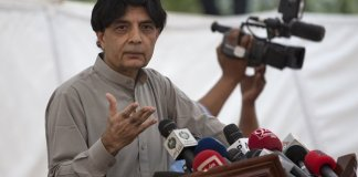Ch Nisar decides to contest elections from NA-63 Taxila ISLAMABAD: Former interior minister and disgruntled leader of ruling Pakistan Muslim League-Nawaz (PML-N) Chaudhry Nisar on Saturday announced to contest election from another constituency. Chaudhry Nisar announced to contest election from another constituency NA-63 Taxila. He said that he had not yet decided to contest election from the provincial assembly's seat of NA-63 Taxila constituency. Meanwhile, Nisar has been quietly working on a plan to contest upcoming elections as an independent candidate. He also shared a survey conducted in his native constituency with his close friends, which suggested that at least 70 percent of the area voters wanted Nisar to contest the next elections as an independent candidate.