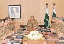 COAS chairs Corps Commanders Conference at GHQ