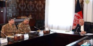 Army Chief Qamar Javed Bajwa meeting with Afghan President Ashraf Ghani in Kabul