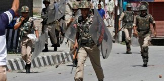 Indian troops in Occupied Kashmir