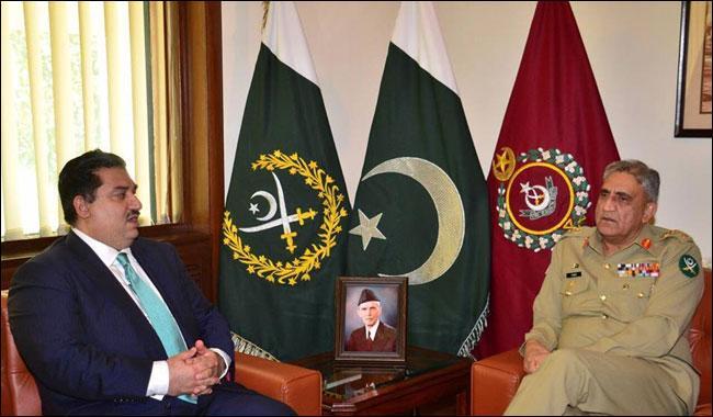 Defence Minister Khurram Dastagir calls on Army Chief Gen Qamar Javed Bajwa