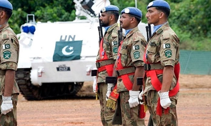 Pakistan Army soldiers in UN peace mission