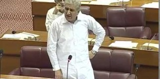 MNA Shah Mahmood Qureshi speaks in National Assembly