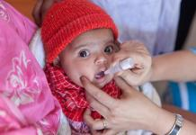 An anti-polio campaign continued on Wednesday to vaccinate the under five years old children for the third day.