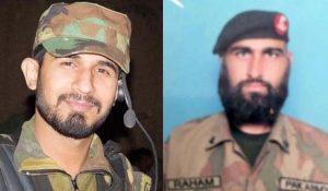 Captain Junaid Hafeez and Sepoy Reham