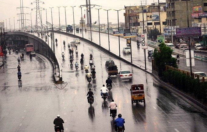 First winter rain in Peshawar