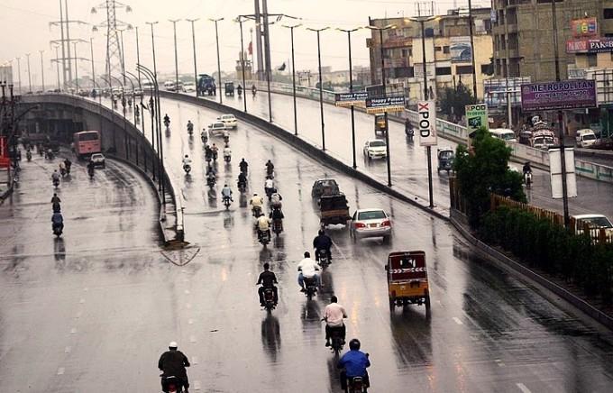 First winter rain in Peshawar