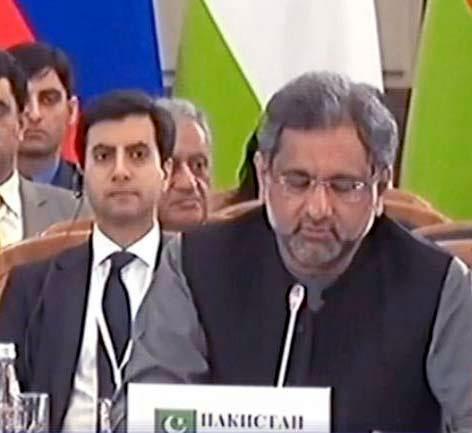 Pakistan PM Shahid Khaqan Abbasi address at SCO summit