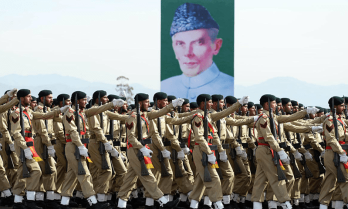 Armed Forces tribute to Jinnah