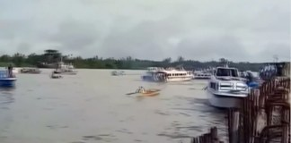 Boat sank in Indonesia