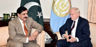 Nasser Khan Janjua, Thomas Drew discusses important matters
